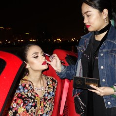 bts for HARAYER MAGAZINE x FERRARI. makeup by me with ABH x Mario master palette.