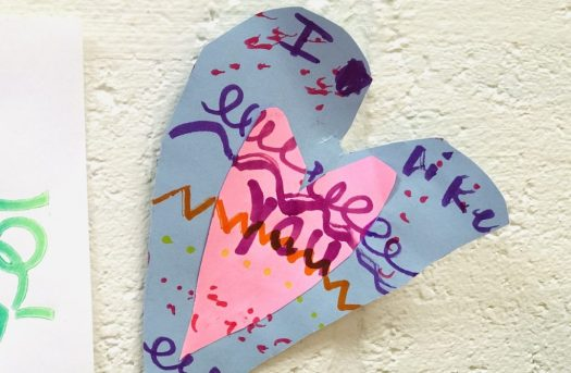 image of a paper heart artwork