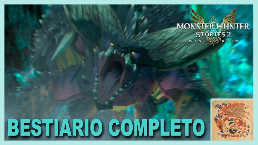 Monster Hunter Stories bestiario