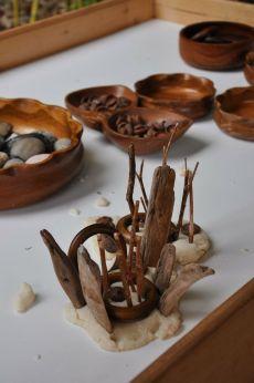 play dough wood and natural materials