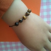 Handmade Tiger Eye Bracelet and Tiger Eye / Rose Quartz Bracelet
