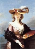 Elizabeth Vigée-Lebrun, Self Portrait with a Straw Hat
