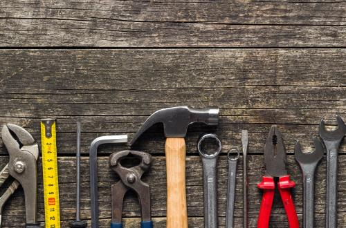 Set of tools. Hand tools for craftsmen.