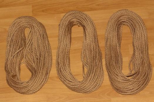 Das Rope aufgeteilt für 3 Sets