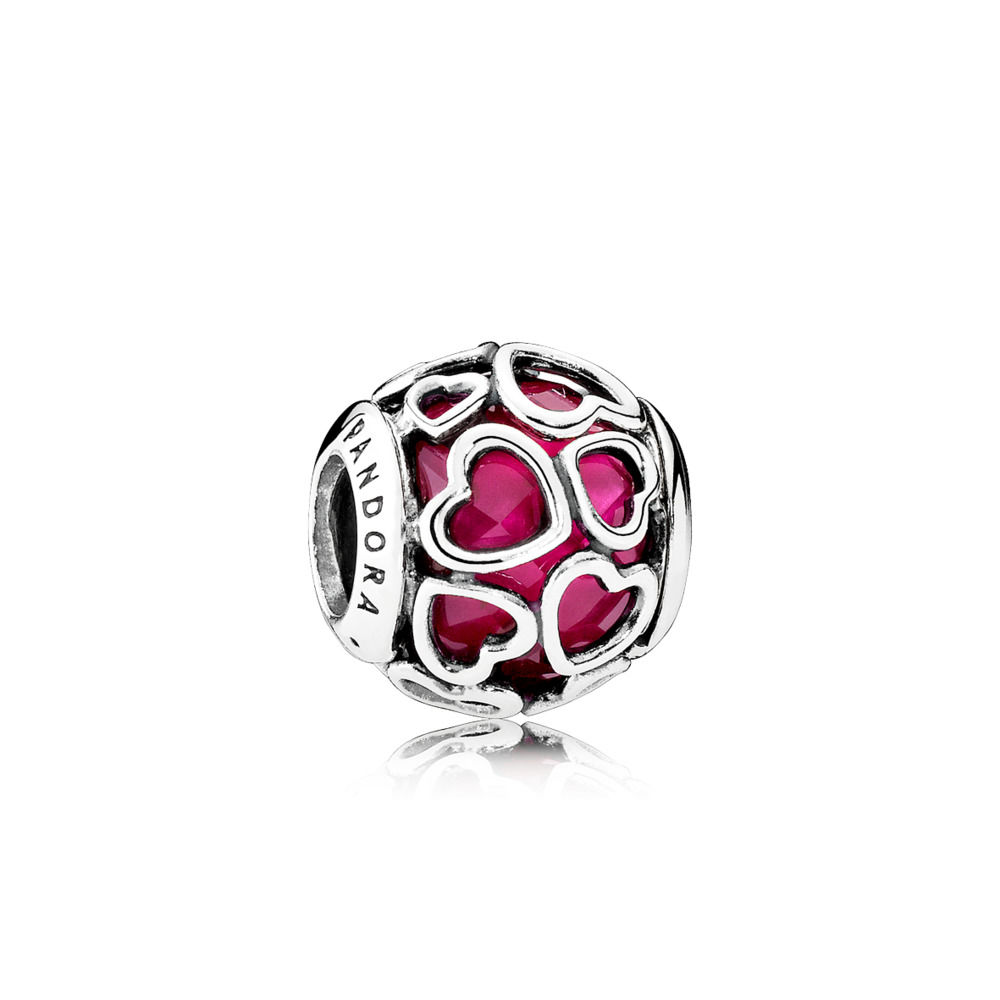 REVIEW PANDORA Cerise Encased In Love Charm The Art Of