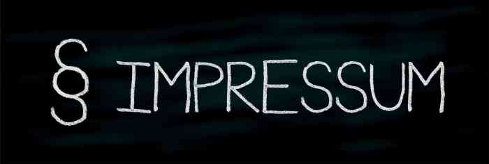 ⚠ Achtung: Impressum-Update vornehmen | Kolumne