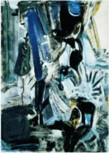 Wu Dayu 吳大羽 Composing Rhymes – 62, 1980 38 x 53 x cm Oil on canvas