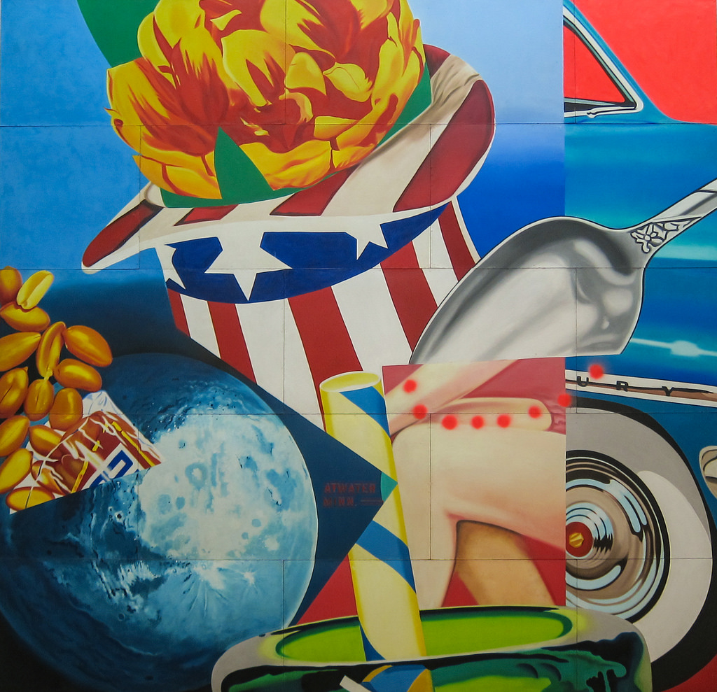 James Rosenquist, World's Fair Mural, 1963-1964 | by Sharon Mollerus