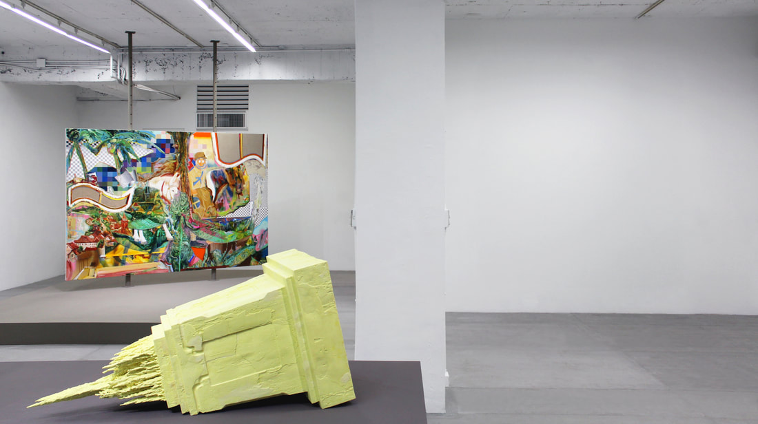 Week 2- 許家禎 Syu Jia-Jhen, 《第三紀念》 'The Third Memorial', 2018, 硫磺、複合媒材 sulfur and mixed media, 116 x 56 x 56cm