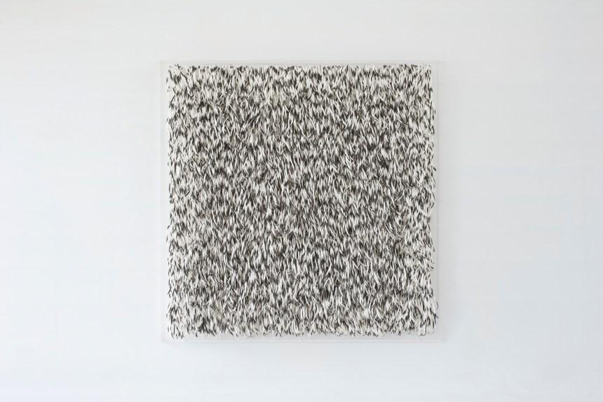 《黑噪音》Black Noise, 2018, 水墨、紙, Ink on paper 圖/ 安卓藝術提供