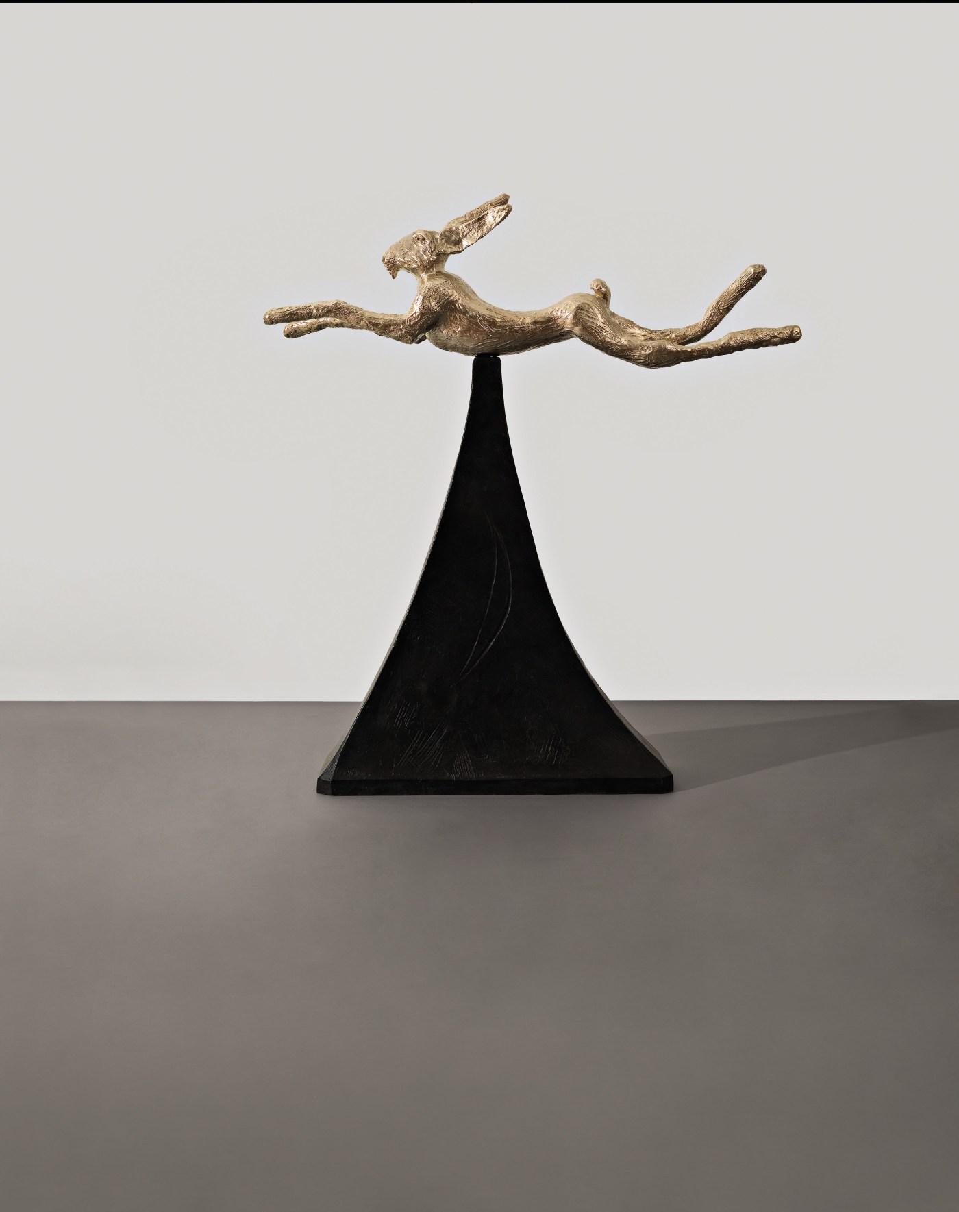 BARRY FLANAGAN, Moon Gold Hare, 2008