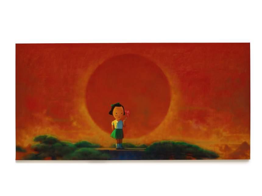 Liu Ye - Smoke 劉野《煙》,2001 至 2002 年作,178 x 365.5 公分