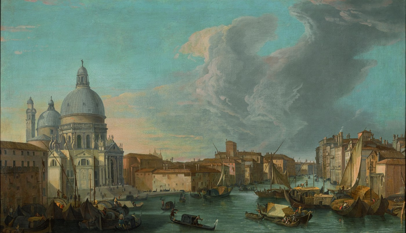 Luca Carlevarijs, Venice, a view of the Grand Canal with the Church of Santa Maria della Salute