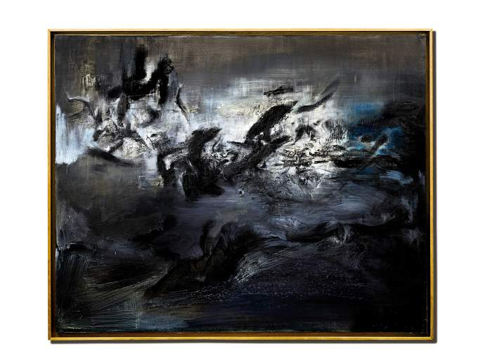 趙無極《21.04.59》 1959 年作,油畫畫布,130 x 162 公分 估價:75,000,000 至 100,000,000 港元