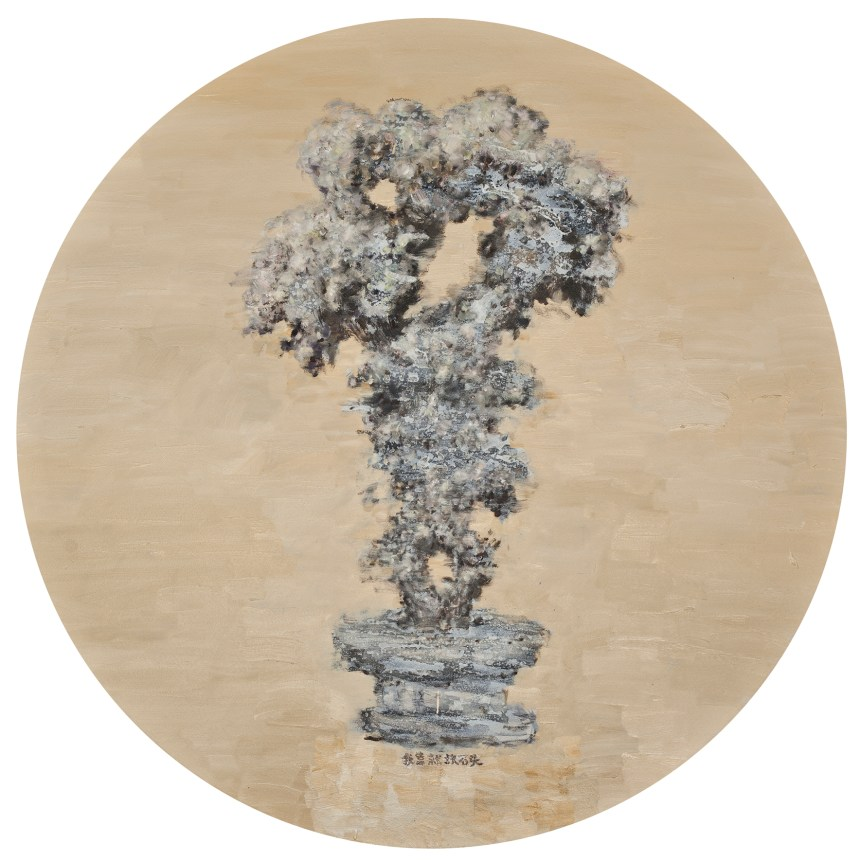 Liu Wei, 太湖石Taihu Stone, 2012, 油彩‧畫布 Oil on canvas, Ø 150 cm, Courtesy of the artist and Lin & Lin Gallery