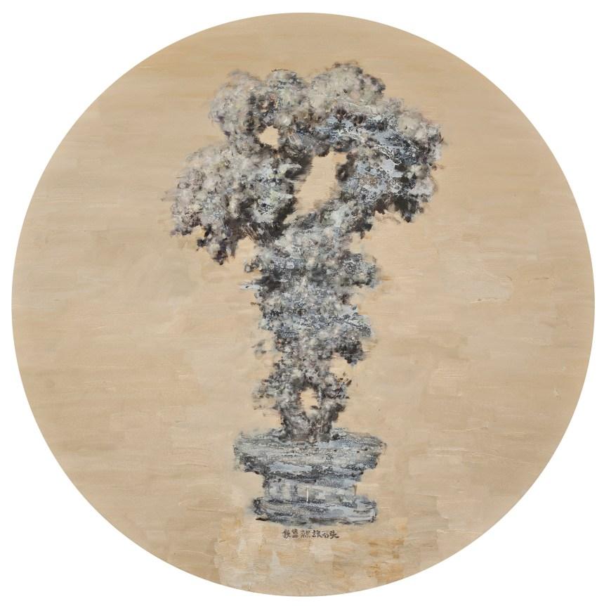 Liu Wei, 太湖石Taihu Stone, 2012, 油彩‧畫布 Oil on canvas, Ø 150 cm, Courtesy of the artist and Lin & Lin Gallery