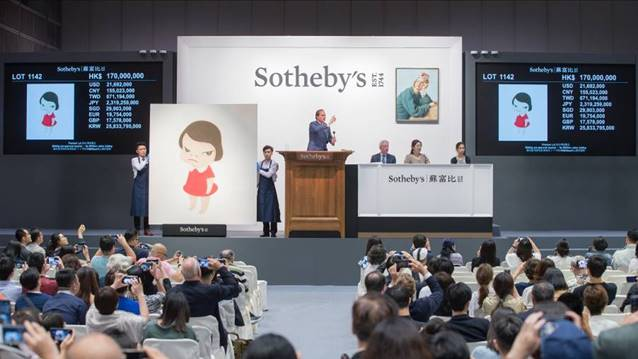 SOTHEBY'S HONG KONG CONTEMPORARY ART SALES ACHIEVE RECORD HIGH AT HK$824 MILLION