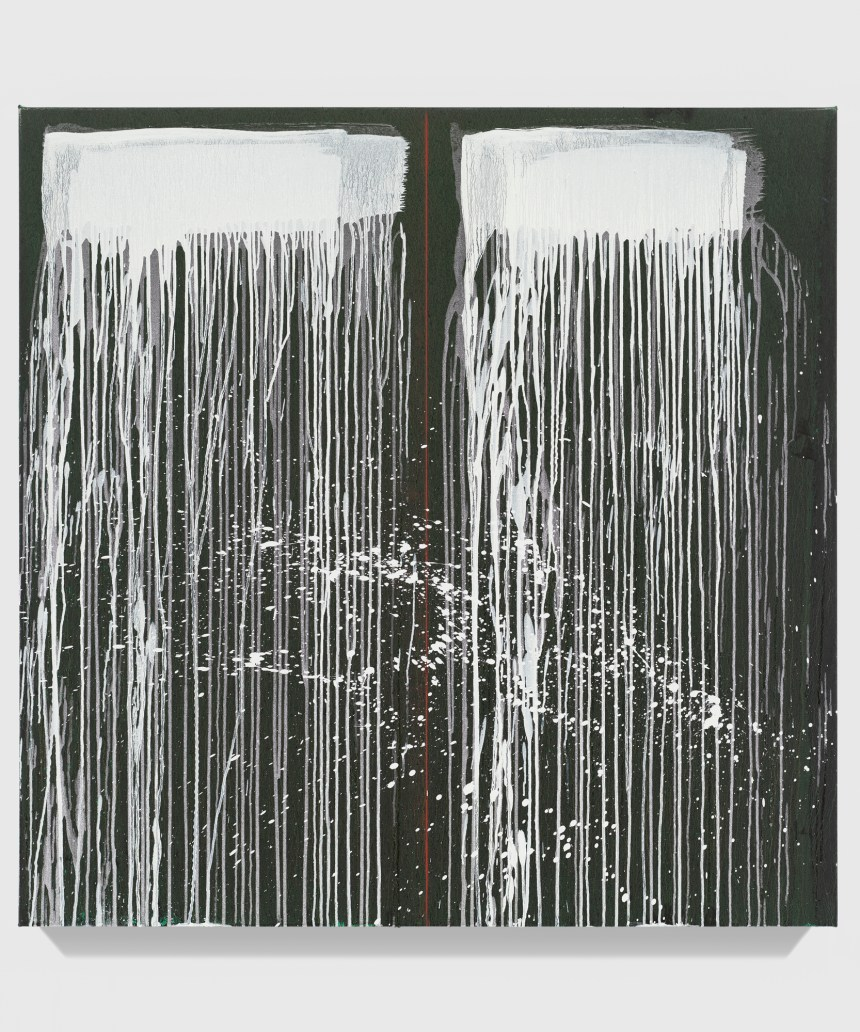 Pat Steir Taipei Paintings: Twenty-Nine, 2019 Oil on canvas 48 x 48 inches (121.9 x 121.9 cm) © Pat Steir. Photo: Tom Powel Imaging, Booth D04, Taipei Dangdai 2020