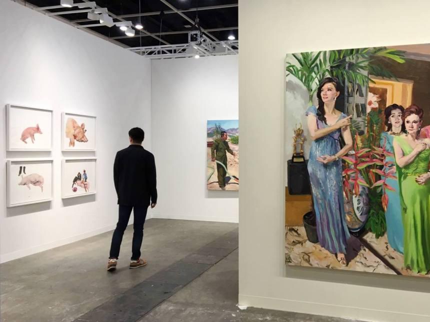 2019香港巴塞爾藝術展劉小東個展   誠品畫廊展位1D12一景