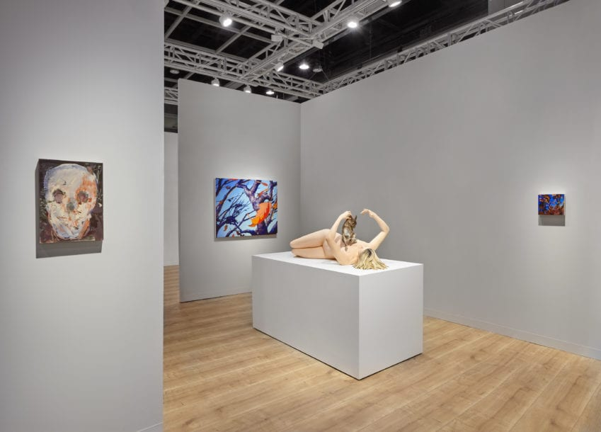 Installation view, Lévy Gorvy, Booth 1C14 at Art Basel Hong Kong, 2019.