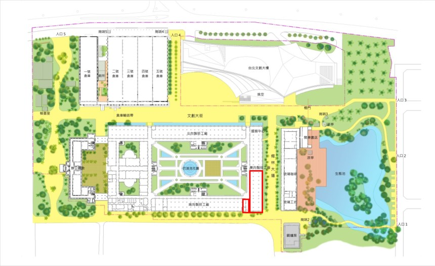 「LAB創意實驗室」進駐營運徵選計畫,指出其使用標的空間區域及面積: 使用標的空間區域及面積共 727 平方公尺(220 坪)