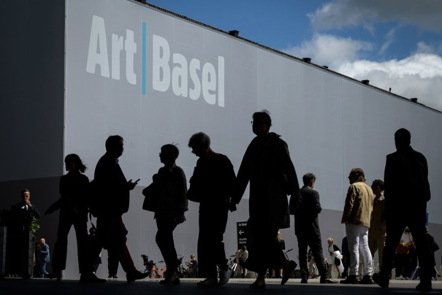 This year's edition of Art Basel is to take place Sept. 17-20, with preview days on Sept. 15-16. More than 280 galleries will participate.Credit...Fabrice Coffrini/Agence France-Presse — Getty Images