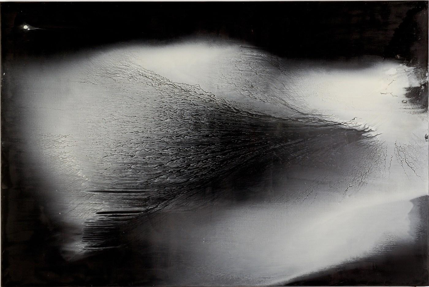 江賢二,《銀湖07-08》,2007 油彩、畫布 200×300 cm 私人收藏 ©臺北市立美術館提供