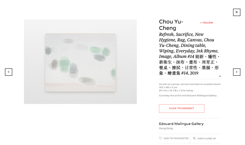 Artwork of Chou Yu-Cheng, by Edouard Malingue Gallery on Taipei Connections