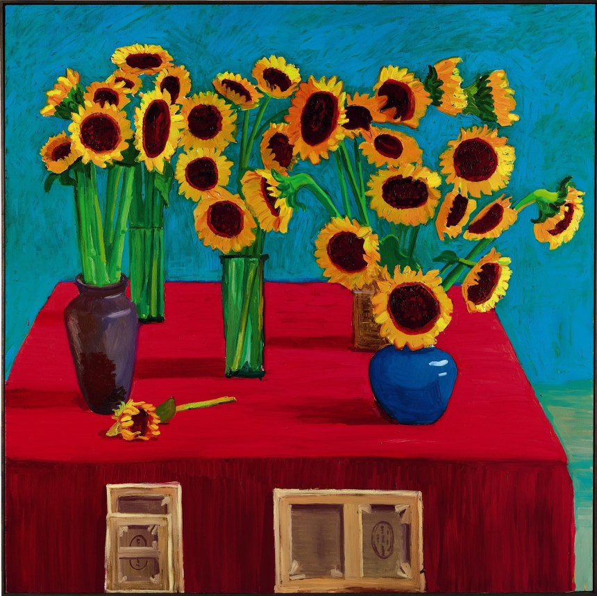 David Hockney_30 Sunflowers Courtesy of Sotheby's