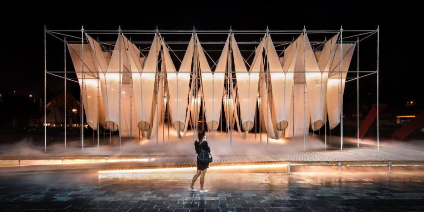 2017年 X-site 首獎:供霧所 Mist Encounter,「偶然設計」和「陳冠瑋建築師事務所」, Photo Credit: 余梓勤(Tzu-Chin Yu)