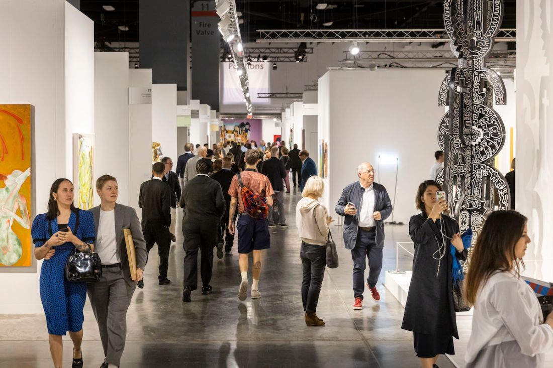 Visitors at the 2019 edition of Art Basel in Miami Beach. Photo © Art Basel.