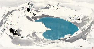 _Wu Guanzhong_Heavenly Lake in Mount Changbai, Courtesy of Sotheby's