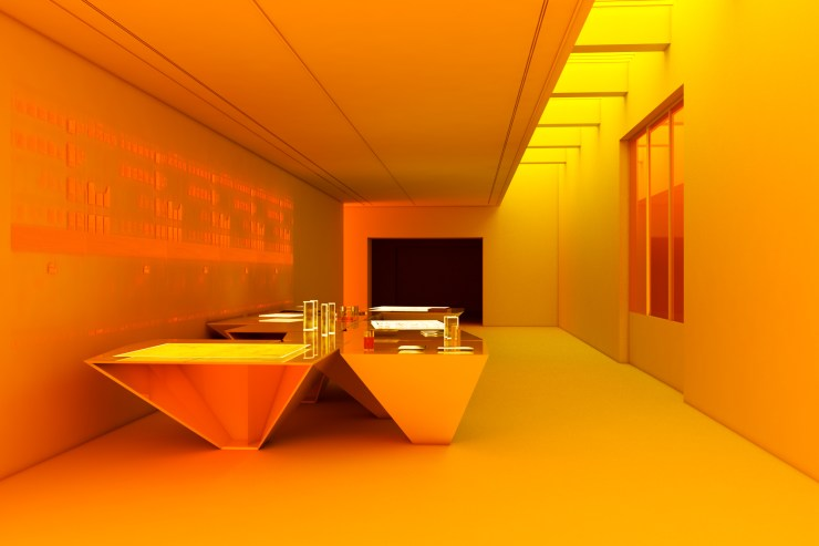 Milliøns 建築工作室(澤娜・柯瑞騰、 約翰・梅)、彼得・奧斯伯恩,《建築的鬼田》, 2020,裝置,尺寸視空間而定。 圖像由藝術家提供。 MILLIØ NS (Zeina KOREITEM + John MAY), Peter OSBORNE, The Ghost Acres of Architecture, 2020, installation, dimensions variable. © MILLIØ NS (Zeina KOREITEM + John MAY), Peter OSBORNE.