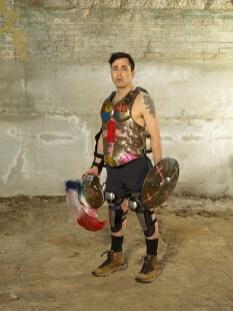 喬舒亞・萊波維茲,調解術,或角色扮演的終結:斯巴達戰士,2019-20,數位噴墨,150x200cm, Courtesy of 本事藝術 Solid Art