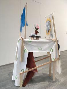 石澤英子,思念獻花半人馬的女子,2020,木、顏料、布料,97x30x150cm, Courtesy of 本事藝術 Solid Art