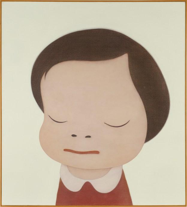 Yoshitomo Nara 奈良美智 《Little Thinker》 111.8 x 101.6 公分 2000年作 成交價4,220,000美元 (約32,719,137港元), Courtesy of the artist and Phillips 富藝斯