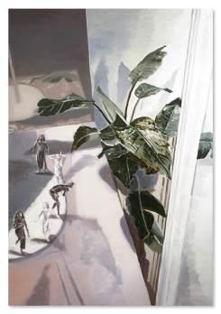 許尹齡 Hsu Yinling《保持正常然後跳舞》'Keep It Normal, and then Dance', 2020, 油彩、麻布oil on linen, 160×110cm, image courtesy of the artist