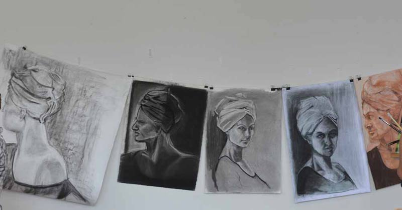 Head to Head – Drawing the Human Head workshop, taught by Godwin Bradbeer.