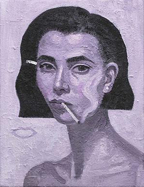 Coppersmith_Yvette_Companion-Piece_Rose-Burn-Self-Portrait_oil-on-linen_46cmx36cm_2016