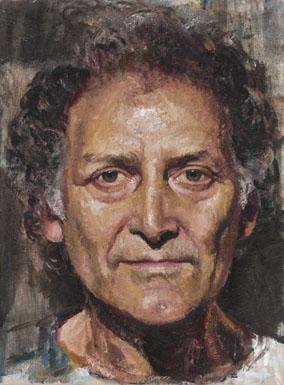 Coppersmith_Yvette_Portrait-of-Arnold-Zable_Oil-on-linen_30.3cmx22.5cm_2013