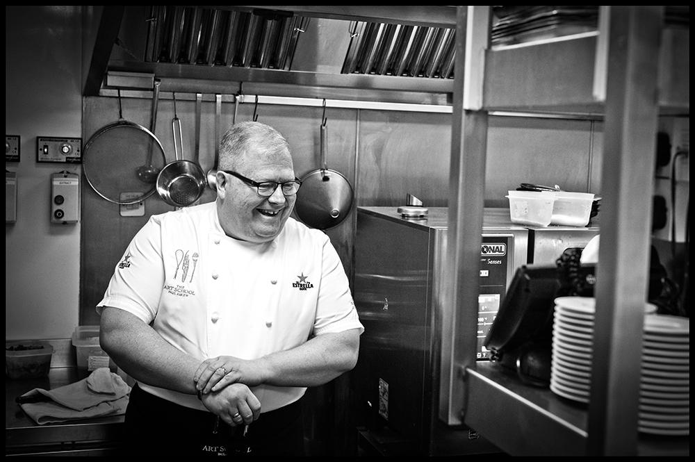 Chef Paul Askew in The Art School Kitchen