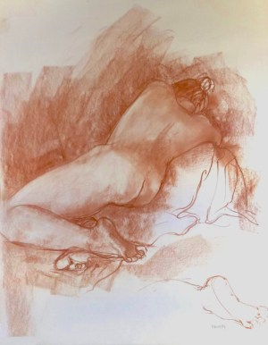 Erna Dry nude drawing