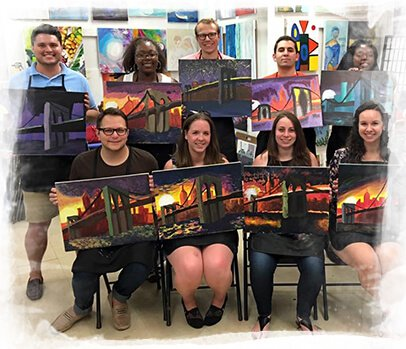 Experience our unique and entertaining painting corporate events NYC