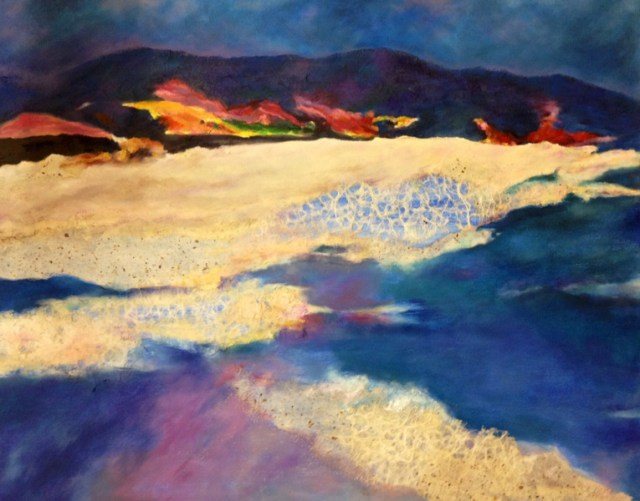 Vivian mixed media lanscape - The Art Studio NY