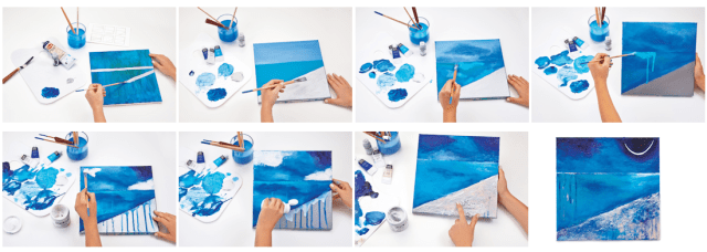 Create a step-by-step painting for beginners