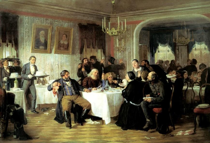 Фирс Журавлев. «Купеческие поминки». 1876. ГТГ