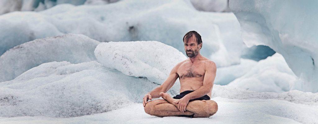 metóda Wima Hofa, wim hof na ľadovci