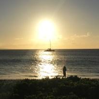 Sunset Walks along the Whaler's Village in Maui