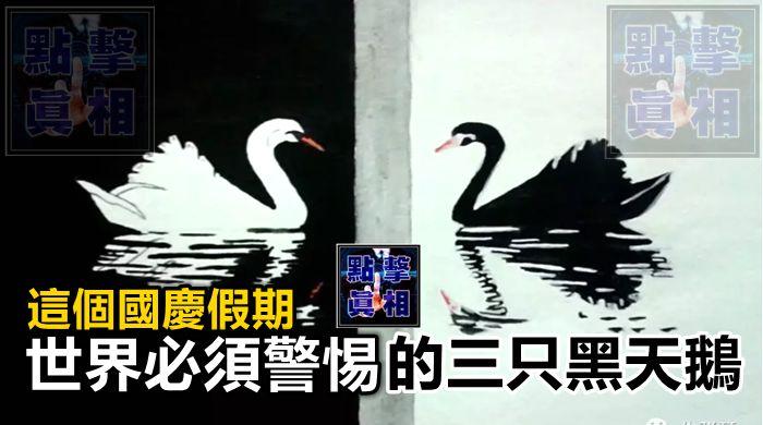 這個國慶假期,世界必須警惕的三只黑天鵝
