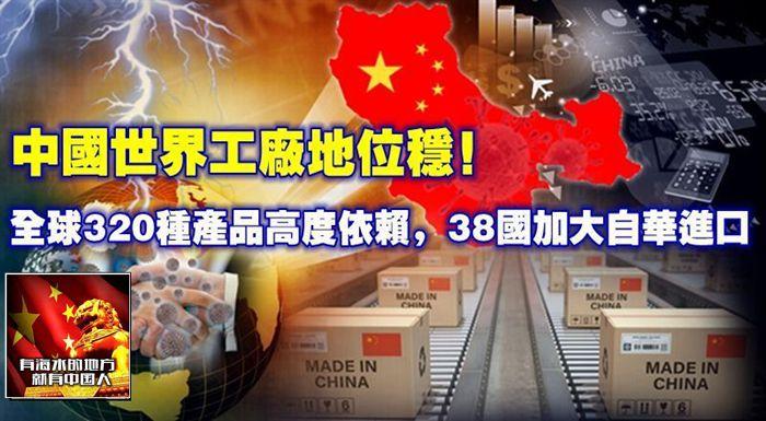 中國世界工廠地位穩!全球320種產品高度依賴,38國加大自華進口